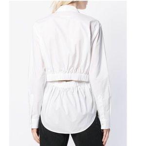 Maison martin margela button down open back blouse